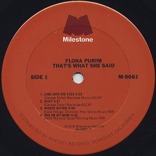 Flora Purim / That's What She Said label