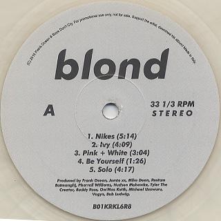 Frank Ocean / Blonde label