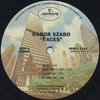 Gabor Szabo / Faces label