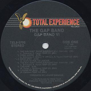 Gap Band / VI label