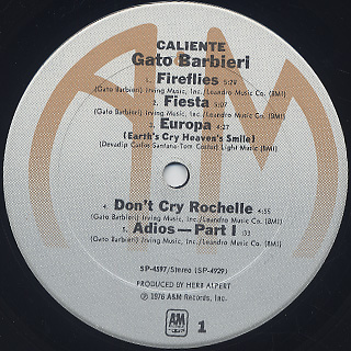 Gato Barbieri / Caliente! label