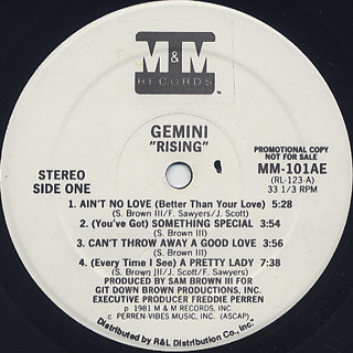 Gemini / Rising label