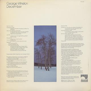 George Winston / December back