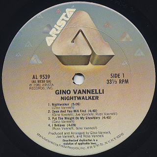 Gino Vannelli / Nightwalker label