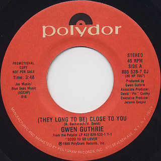 Gwen Guthrie / (They Long To Be) Close To You (45) front