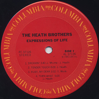 Heath Brothers / Expressions Of Life label