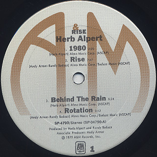 Herb Alpert / Rise label