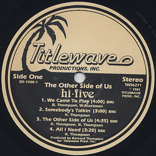 Hi-Five / The Other Side Of Us label