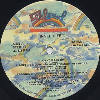 Inner Life / Inner Life label