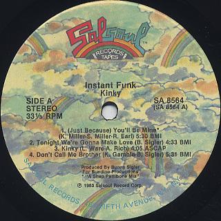 Instant Funk / Kinky label