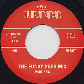 J Rocc / Funky President Edits Vol 4 label