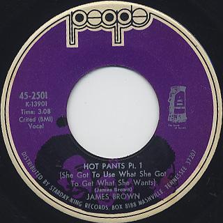 James Brown / Hot Pants Pt.I c/w Pt.II & III