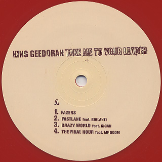 King Geedorah / Take Me To Your Leader label