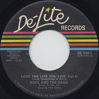 Kool & The Gang / Love The Life You Live back