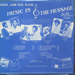 Kool and The Gang / Music Is The Message back