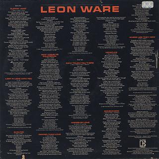 Leon Ware / Leon Ware back