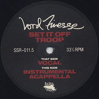 Lord Finesse / Set It Off Troop (Remastered) label