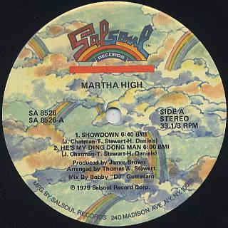 Martha High / S.T. label