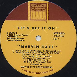 Marvin Gaye / Let's Get It On label