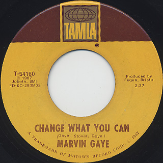Marvin Gaye / You c/w Change What You Can back