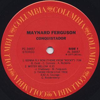 Maynard Ferguson / Conquistador label