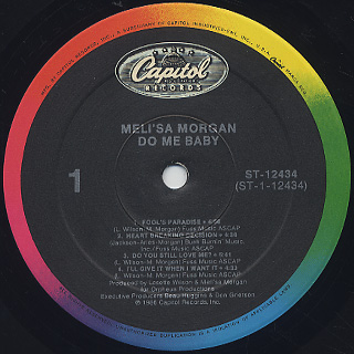Meli'sa Morgan / Do Me Baby label