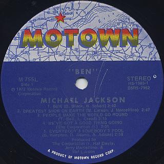 Michael Jackson / Ben (Rat) label