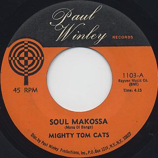 Mighty Tom Cats / Soul Makossa c/w Tom Cat Reggay