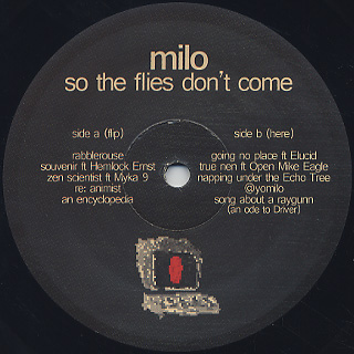 Milo / So The Files Don't Come label