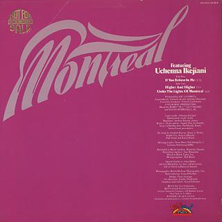 Montreal featuring Uchenna Ikejiani / S.T. back