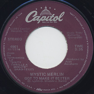 Mystic Merlin / Get It For Yourself c/w Got To Make It Better back