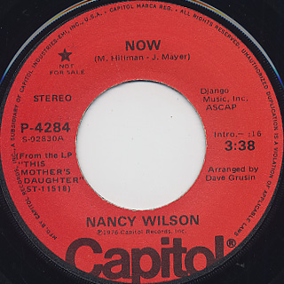 Nancy Wilson / Now c/w Now(Mono)