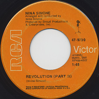 Nina Simone / Revolution Part I c/w Part II back