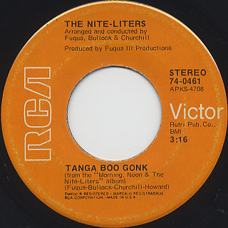 Nite-Liters / K-Jee c/w Tanga Boo Gonk back