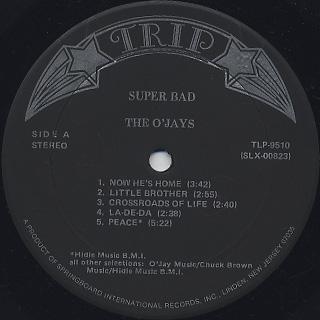 O'Jays / Super Bad label