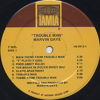 O.S.T.(Marvin Gaye) / Trouble Man label