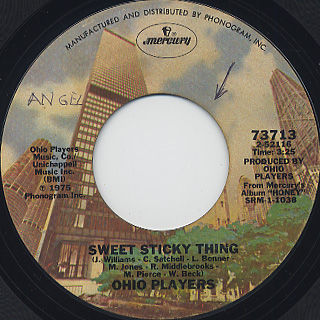 Ohio Players / Sweet Sticky Thing c/w Alone