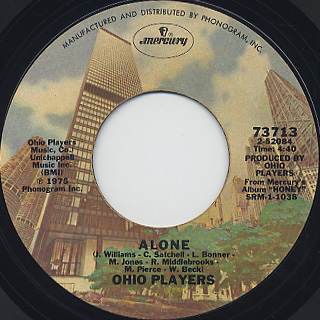 Ohio Players / Sweet Sticky Thing c/w Alone back