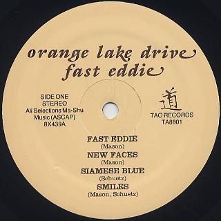 Orange Lake Drive / Fast Eddie label
