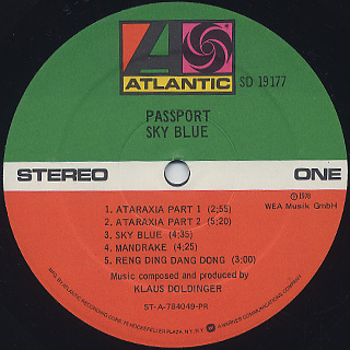 Passport / Sky Blue label