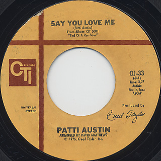 Patti Austin / Say You Love Me (45)