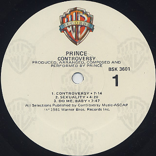 Prince / Controversy label