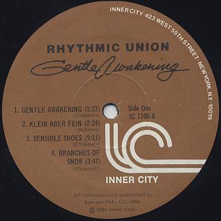 Rhythmic Union / Gentle Awakening label