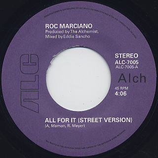 Roc Marciano / All For It label