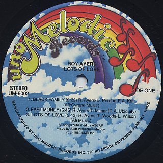 Roy Ayers / Lots Of Love label
