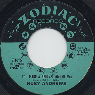 Ruby Andrews / You Made A Believer (Out Of Me) (45)