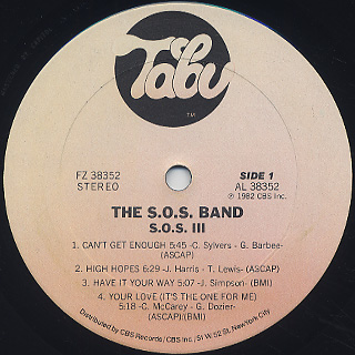 S.O.S. Band / S.O.S. III label