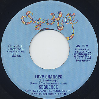 Sequence / Angels Playing Hookey c/w Love Changes back