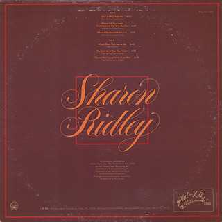 Sharon Ridley / Stay A While With Me back