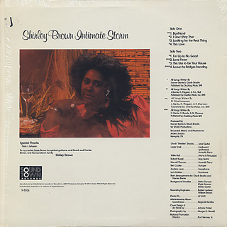 Shirley Brown / Intimate Storm back